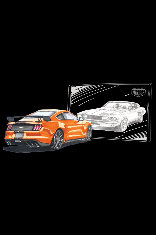 Pakiet: Bluza Ford Mustang Orange + dowolna koszulka + maseczka gratis